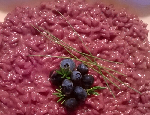 Risotto mirto, mirtilli e Barbaresco